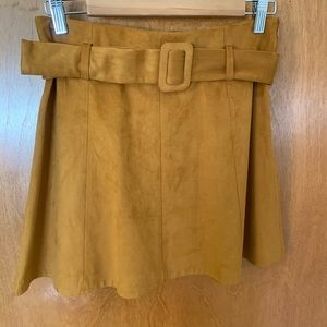 Dresses & Skirts - Zara faux suede tan skirt